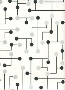 Paper & Ink Black & White Wallpaper BW21400 By Wallquest Ecochic For Today Interiors